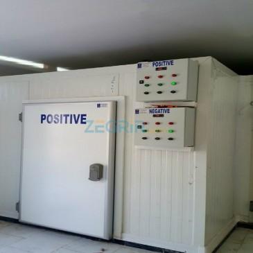 Chambre positive et négative pour réfectoire